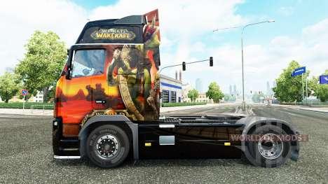 Скин World of Warcraft на тягач Volvo для Euro Truck Simulator 2
