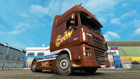 Скин Lion на тягач DAF для Euro Truck Simulator 2