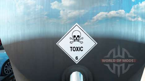 Таблички опасного груза для American Truck Simulator
