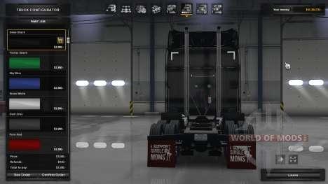Брызговики I Support Single Moms для American Truck Simulator