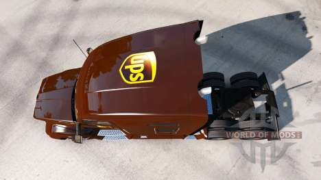 Скин UPS на тягач Kenworth для American Truck Simulator
