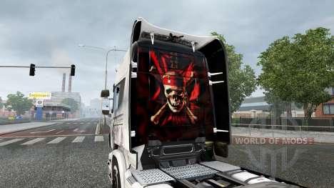 Скин Pirates of the Caribbean на тягач Scania для Euro Truck Simulator 2