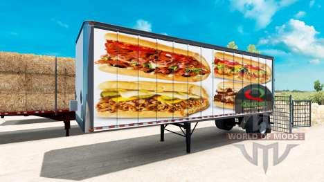 Скины Американский фаст-фуд на полуприцепы для American Truck Simulator