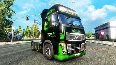 Скин HULK на тягач Volvo для Euro Truck Simulator 2