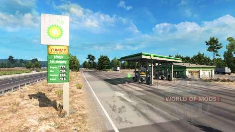 Реальные автозаправочные станции для American Truck Simulator