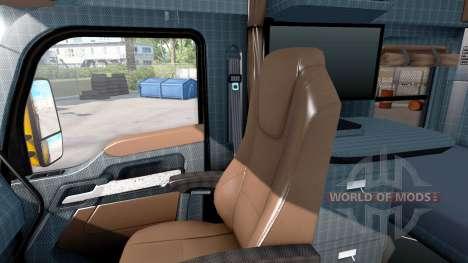 Новые окрасы интерьеров Kenworth T680 для American Truck Simulator