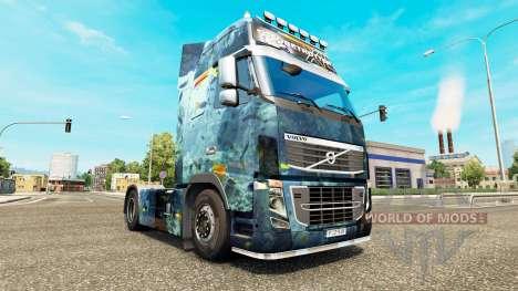 Скин Sea на тягач Volvo для Euro Truck Simulator 2