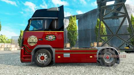 Скин Orlando Fire Department на тягач Volvo для Euro Truck Simulator 2
