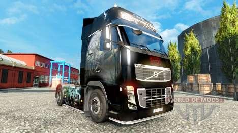 Скин Zombie на тягач Volvo для Euro Truck Simulator 2