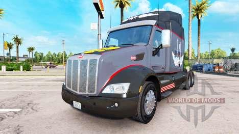Скин Русская мафия на тягач Peterbilt для American Truck Simulator