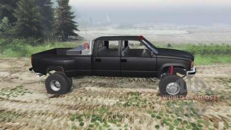 GMC Suburban 1995 Crew Cab Dually [03.03.16] для Spin Tires