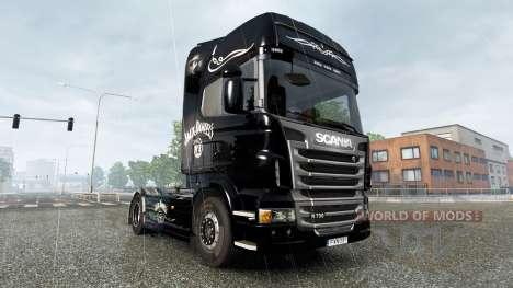 Скин Jack Daniels Birthday на тягач Scania для Euro Truck Simulator 2