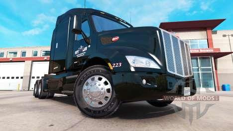 Скин Outlaw Transportation на тягач Peterbilt для American Truck Simulator