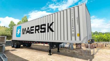 Полуприцеп контейнеровоз v0.1 для American Truck Simulator