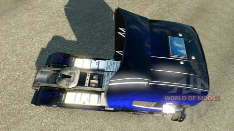 Скин Blue Scorpion на тягач Scania для Euro Truck Simulator 2