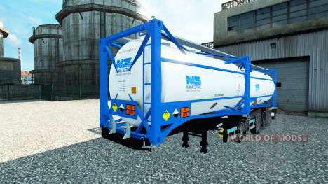 Полуприцеп цистерна Nijman Zeetank v2.0 для Euro Truck Simulator 2