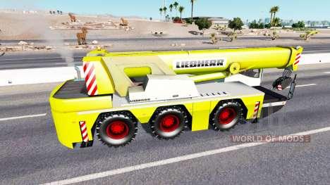 Автокран Liebherr в трафике для American Truck Simulator