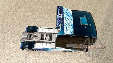 Скин Earth на тягач Scania для Euro Truck Simulator 2