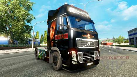 Скин Ironman на тягач Volvo для Euro Truck Simulator 2