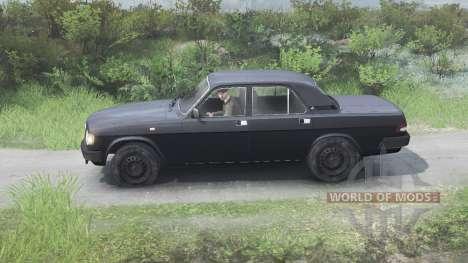 ГАЗ-3110 Волга [чёрный][03.03.16] для Spin Tires