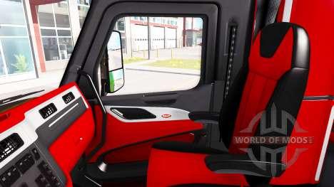 Окрас интерьера Peterbilt 579 в стиле Ferrari для American Truck Simulator