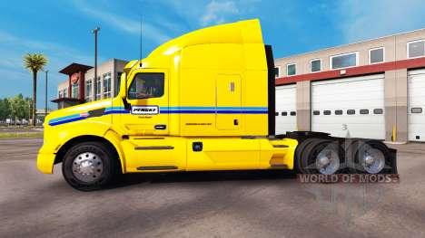 Скин Penske Truck Rental на тягач Peterbilt для American Truck Simulator