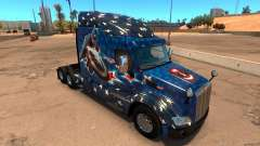 Скин Captain America для грузовика Peterbilt 579