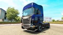 Скин Blue Scorpion на тягач Scania