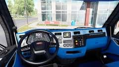 Чёрно-синий интерьер в Peterbilt 579