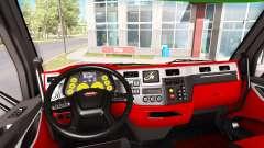 Окрас интерьера Peterbilt 579 в стиле Ferrari