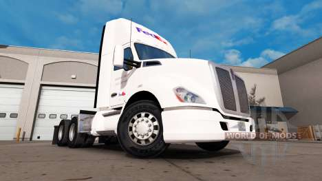 Скин FedEx на тягач Kenworth для American Truck Simulator