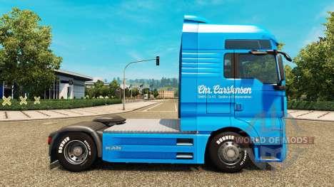 Скин Carstensen на тягач MAN для Euro Truck Simulator 2