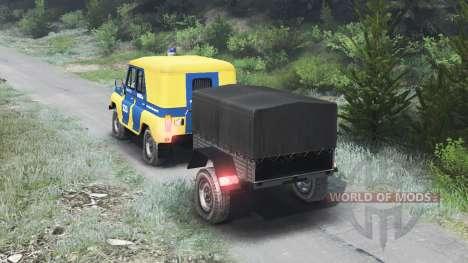 УАЗ-469Б милиция СССР [03.03.16] для Spin Tires