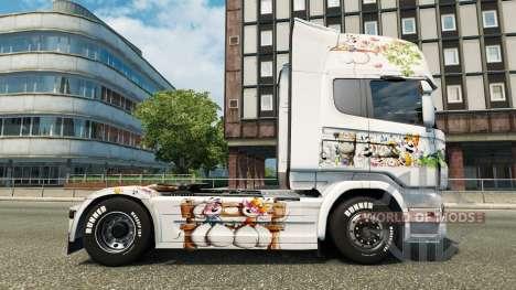 Скин Kinder на тягач Scania для Euro Truck Simulator 2