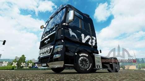 Скин MAN V8 на тягач MAN для Euro Truck Simulator 2