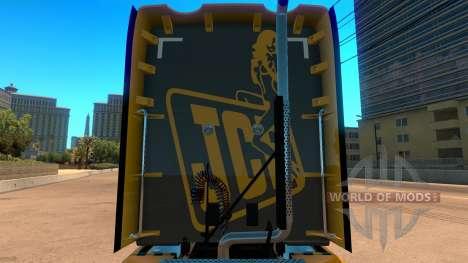 JCB скин для Kenworth T680 для American Truck Simulator