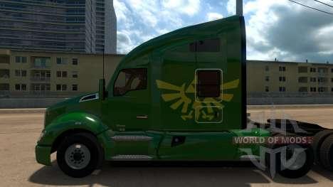 Zelda Skin for Peterbilt 579 для American Truck Simulator