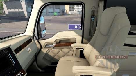 Люксовый интерьер в Kenworth T680 для American Truck Simulator