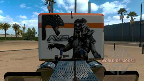 T-D-S Alien vs Predator Skin for Peterbilt 389 для American Truck Simulator