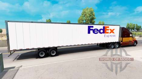 Скины UPS и FedEx на полуприцепы для American Truck Simulator
