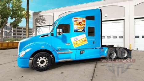 Скин White Castle на тягач Kenworth для American Truck Simulator