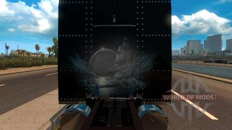 T-D-S Peterbilt 389 Racing Skin Mod для American Truck Simulator