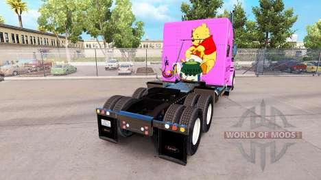 Скин Pooh Bearна тягач Peterbilt 389 для American Truck Simulator