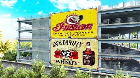 Винтажная реклама на билбордах для American Truck Simulator