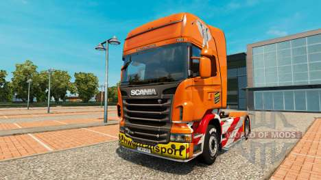 Скин Heavy Transport на тягач Scania для Euro Truck Simulator 2