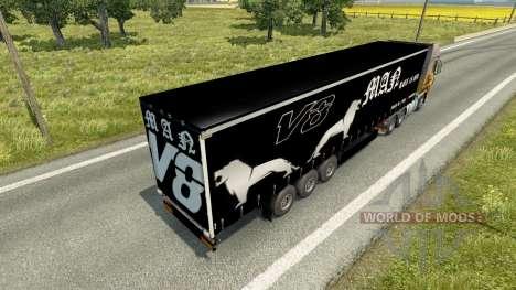 Полуприцеп MAN V8 для Euro Truck Simulator 2