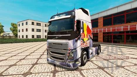 Скин RedBull на тягач Volvo для Euro Truck Simulator 2
