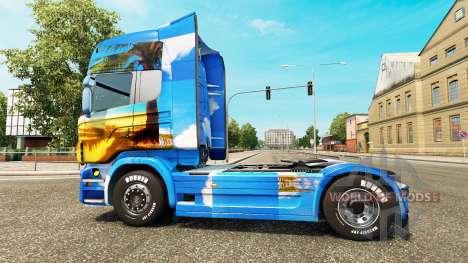 Скин Island на тягач Scania для Euro Truck Simulator 2