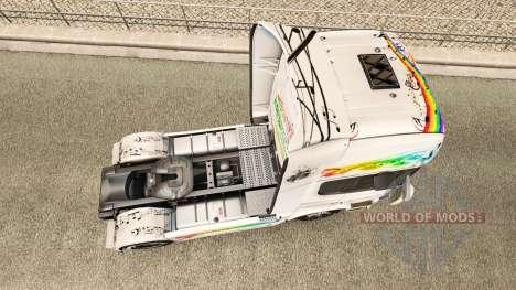 Скин Music на тягач Scania для Euro Truck Simulator 2