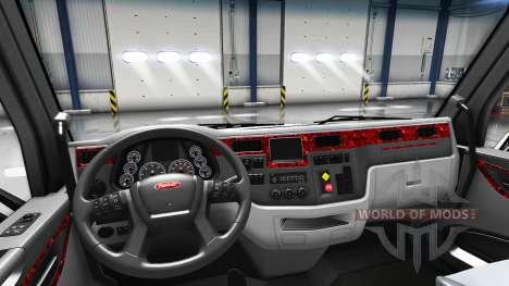 Перламутровый интерьер в Peterbilt 579 для American Truck Simulator